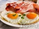 Рецепта Пържени яйца на очи с бекон